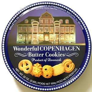 Wonderful COPENHAGEN Butter Cookies 32 OZ (908 g)