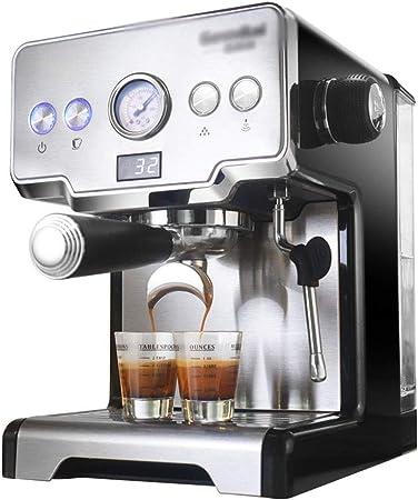 Cafetera De Oficina Mini Doméstica Filtro Máquina De Leche De Vapor Semiautomática (Color : Silver, Size : 25.3 * 39 * 31.3cm): Amazon.es: Hogar