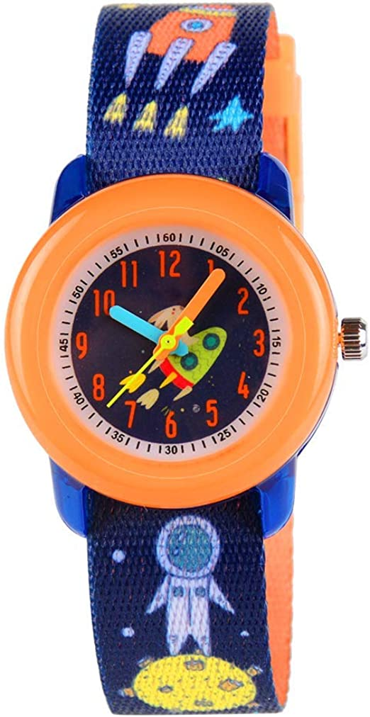 Amazon Com Kids Astronaut Watch For Boys Kids Outer Space Rocket Gifts Cute Nasa Analog Outdoor Watches For Ages 3 10 9 Year Little Toddler Children Watches