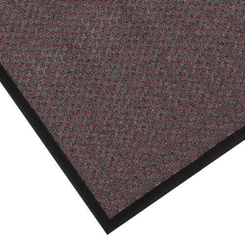 Notrax 145 Preference Entrance Mat, for Inside Foyer Area and Main Entranceways, 4' Width x 6' Length x 5/16'' Thickness, Red/Black
