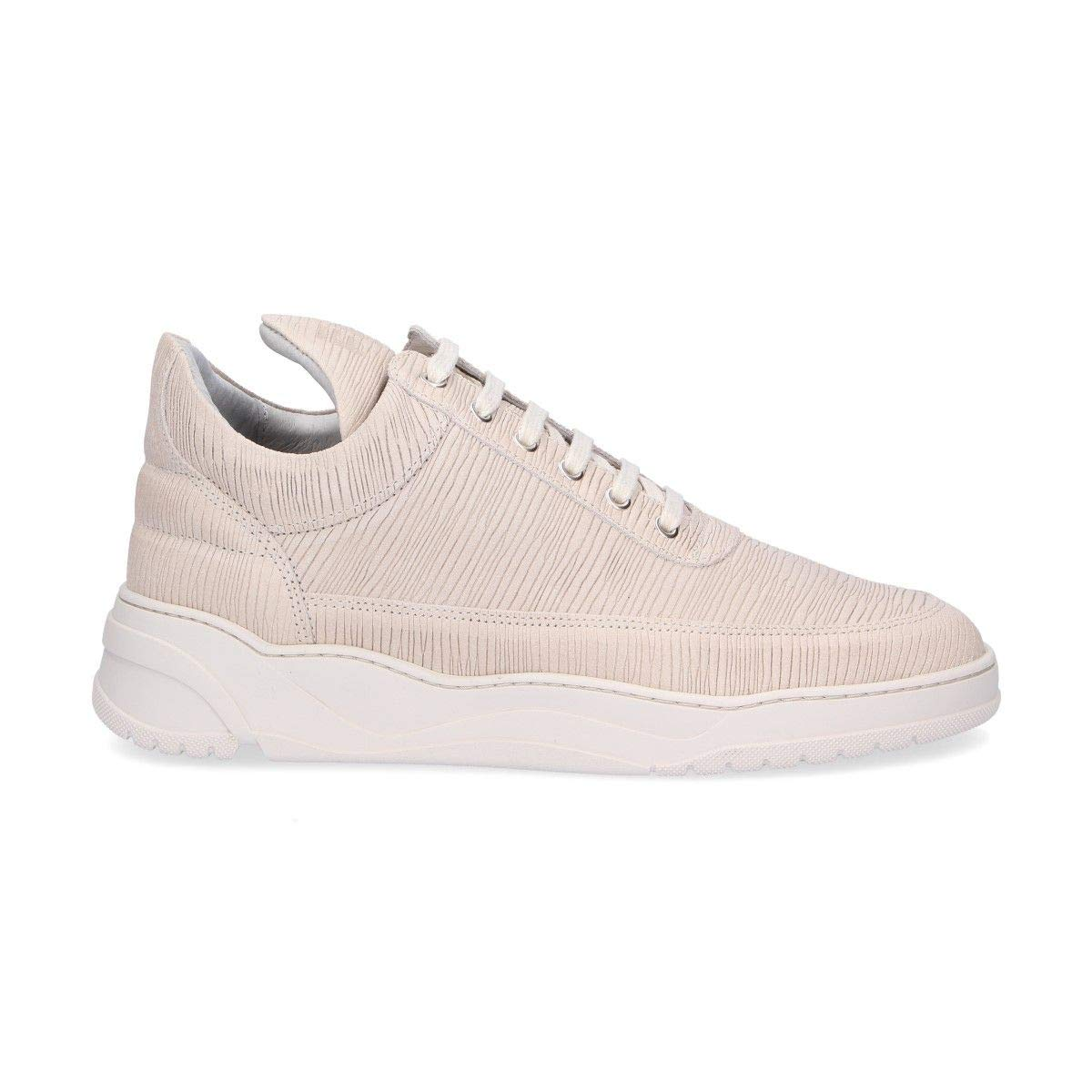 - FILLING PIECES Men's 1012102B Beige Leather Sneakers