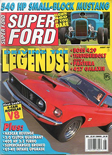 Super Ford August 1992 Magazine DRIVING THE LEGENDS: BOSS 429 THUNDERBOLD GROUP 5 PANTERA .427 (Gt Legend Wheels)