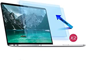 [2 Pack]MacBook Pro 16 Inch Blue Light Screen Protector - Anti Glare Eye Protection Screen Filter for Apple MacBook Pro 16 Model A2141 2019 New Release with Touch Bar & Touch ID