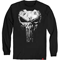 Camiseta Justiceiro The Punisher Manga Longa Algodão