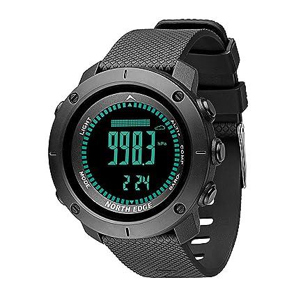 Smartwatches Hombres Relojes Deporte Militar Borde Norte Medición de la presión Reloj barómetro Altímetro Hombres Brújula