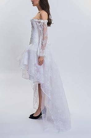 Damska sukienka typu shapewear w stylu gotyckim, w stylu punkowym, elegancka sukienka koktajlowa, z odświętną koronką, z długimi rękawami, w dużych rozmiarach z przodu, z tyłu, dłu