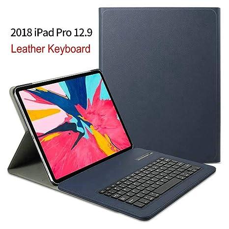Funda con Teclado para iPad Pro 12.9 2018 (3ª generación), Funda de Piel