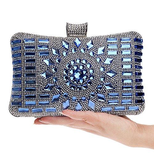 Embrayages Sacs Diner fête Mariage pour Acrylique en blue de bandoulière Petit en Embrayage Main Sacs KYS Jour Sacs à à Messenger Main Diamants pour Femmes pour à q0CHB1w