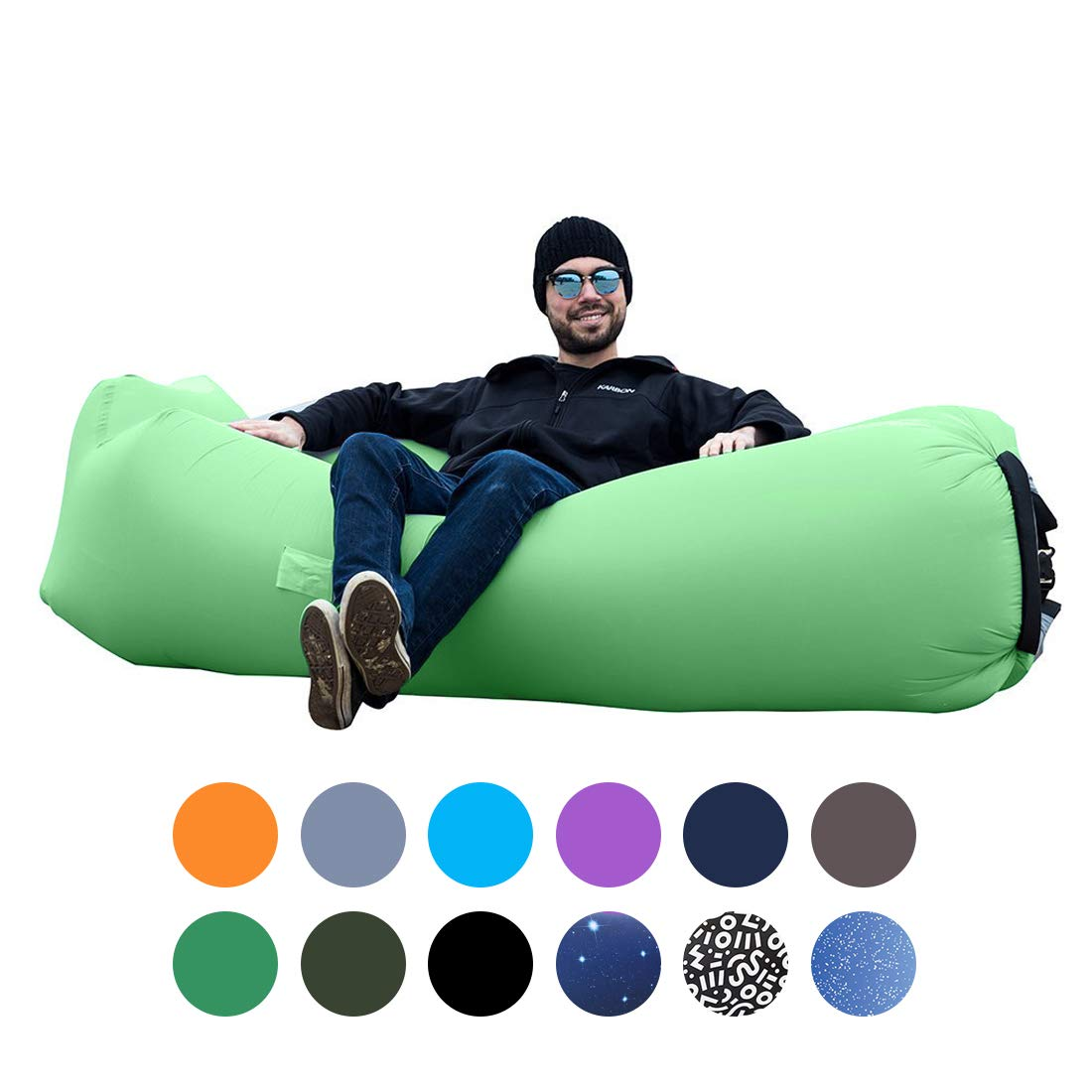 ORSEN Inflatable Lounger Portable Hammock Air Sofa with Water Proof,Anti-Air Leaking Design,Ideal Inflatable Couch and Beach Chair Camping Accessories for Parties Picnic&Festival by ORSEN