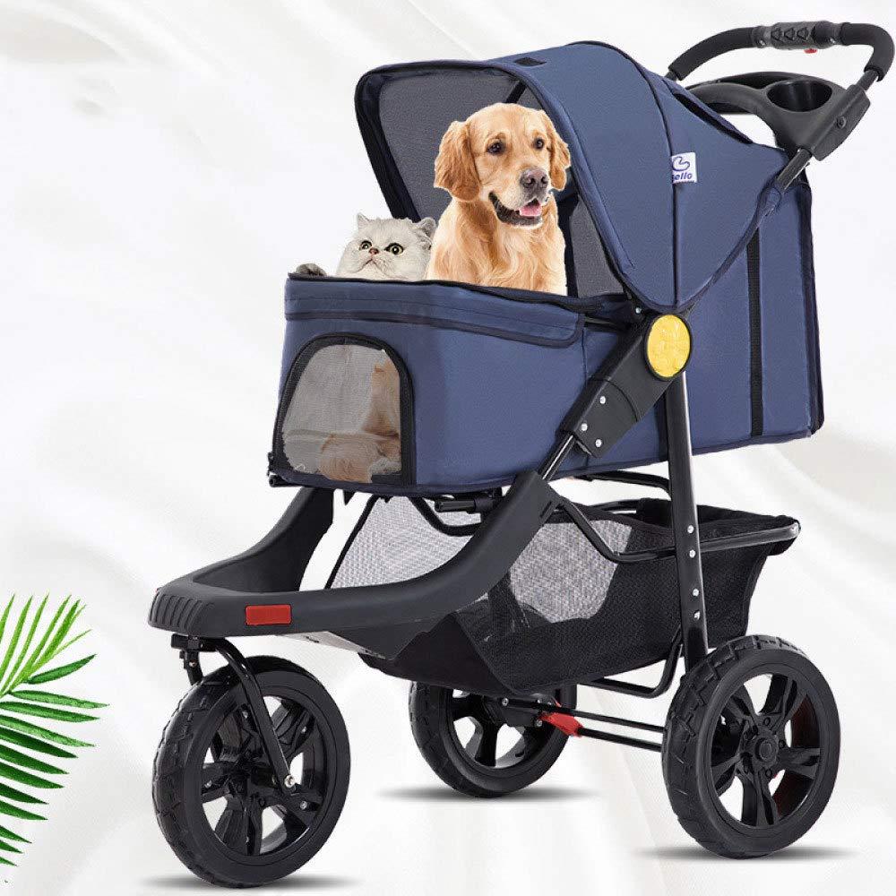 Dog Stroller,3 Wheels Pet Stroller Pet Jogging Stroller Dog Cat Cage Travel Lite Foldable Carrier Strolling Cart