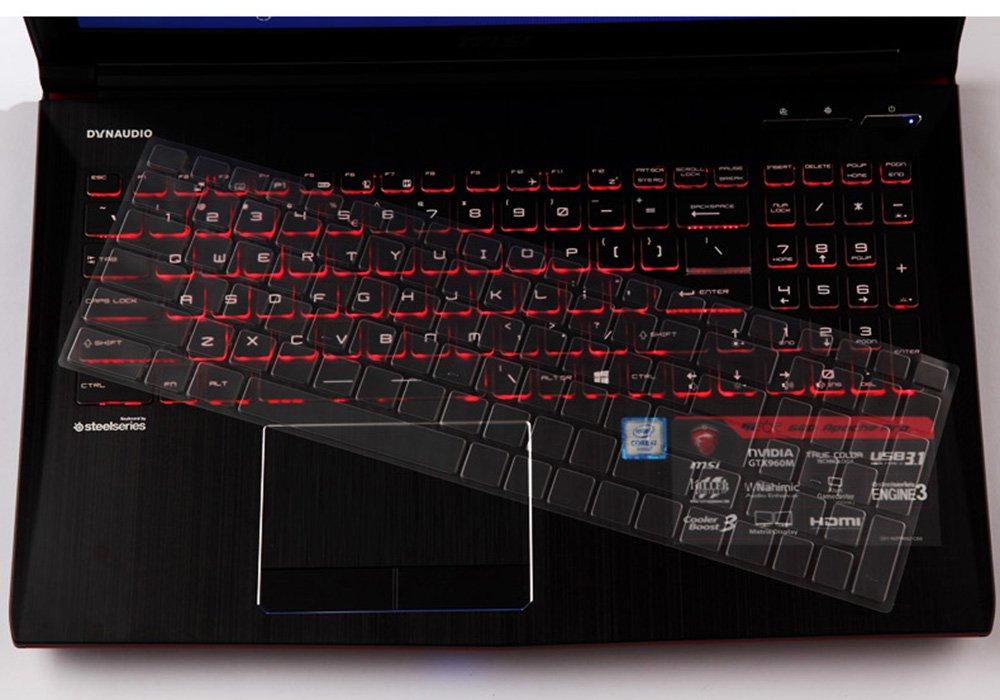 MSI GP72 GS72 GS73VR GL72M GT72 GF72VR GE73VR Gaming Laptop CaseBuy Premium Ultra Thin Keyboard Cover Compatible for MSI GL62M GL63 GP62M GP63 GE62 GE63VR PE62 GS63VR WS63VR