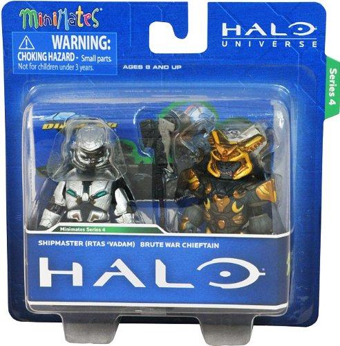 - Halo Minimates Exclusive Series 4 Mini Figure 2Pack Shipmaster (Rtas Vadam) Brute War Chieftain