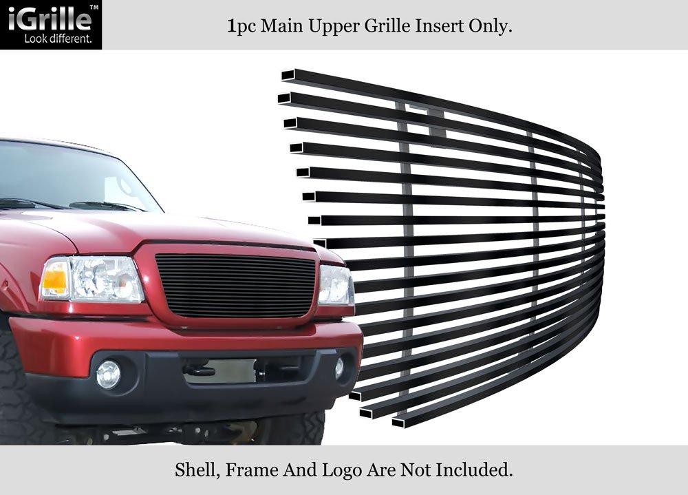 APS Fits 2006-2012 Ford Ranger Stainless Steel Black Billet Grille Insert #N19-J24358F