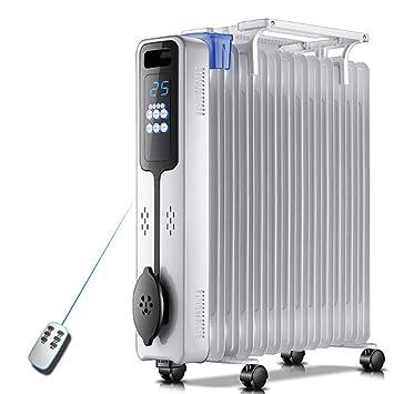 NFNF Calentador Eléctrico Doméstico De La Oficina del Calentador De Aceite del Tinte del Hogar Teledirigido