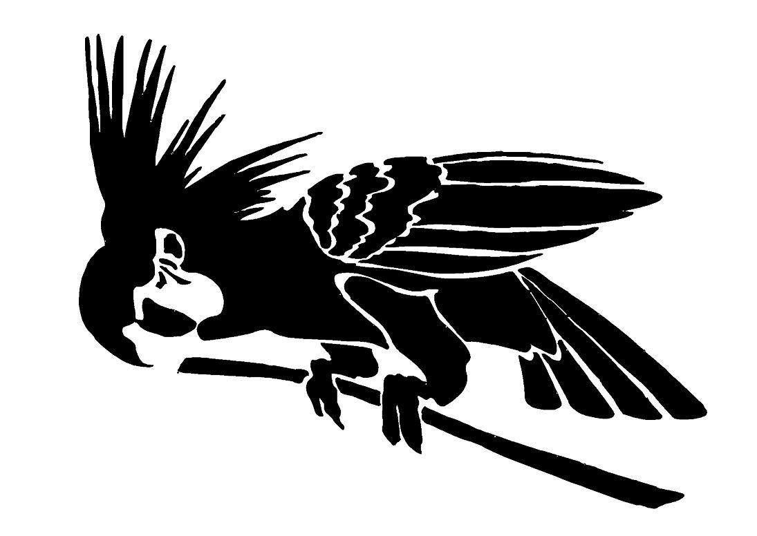 BIRD COLLECTION 1-Airbrush aus Mylar Re 125 Mikron Wanddeko DIN A4 Schablone wiederverwendbar