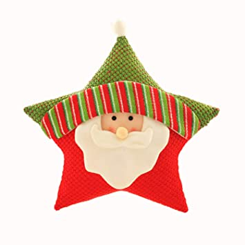 Ms Reia Oreiller étoile à Cinq Branches Père Noël Elk