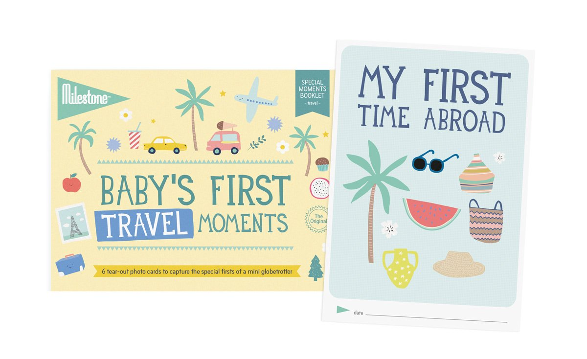 Milestone - Baby's First Travel Moments Photo Card Booklet - Tear Out Booklet of 6 Photo Cards to Capture Your Baby's First Memorable Travel Moments MSMCTRAVEL