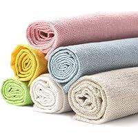 Aida Cloth Cross Stitch Cloth 6Pcs White Natural Linen Needlework Fabric Cross Stitch Cloth 20 Inch Embroidery Linen…