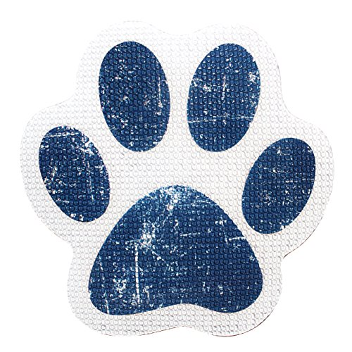 "Nonslip Bathtub or Shower Stickers Safety Adhesive Paw Print Treads | Large Decal Surface Area Grip - 4"" Diameter Applique by SlipRx USA"