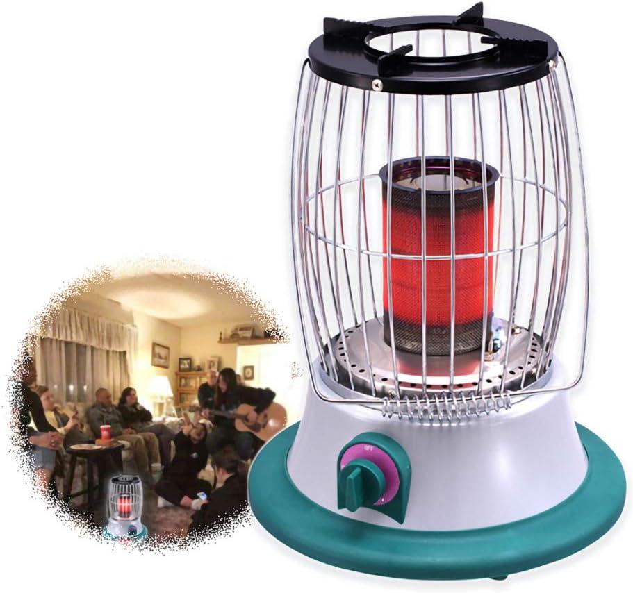 DDLL Table Top Gas calefactores de Patio para el Aire Libre, Calor del Calentador de Gas con Gas propano Regulador, Sao hipoxia Protección Apagado, 2-3m Calefacción Distancia, de bajo Consumo