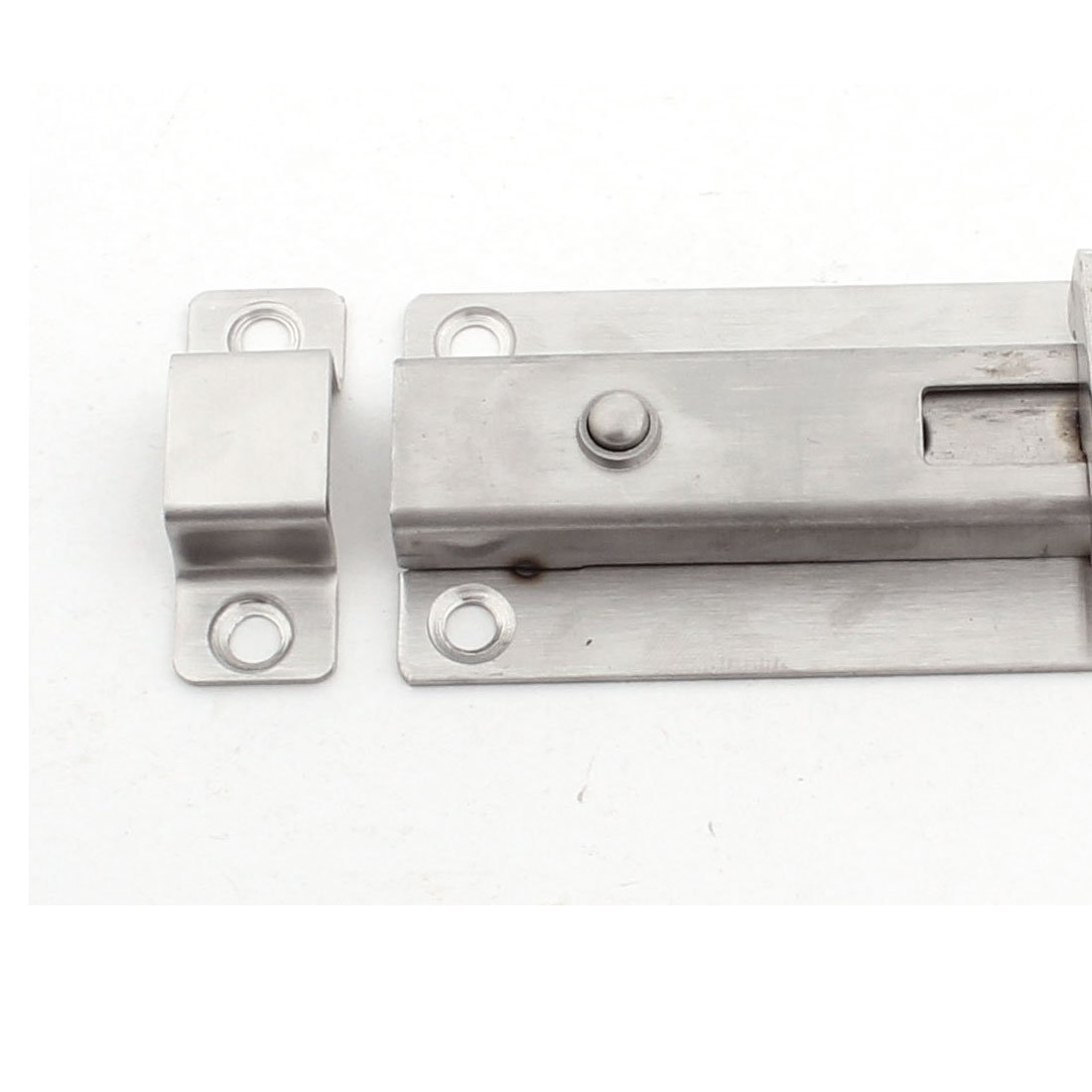 Botón eDealMax puerta del armario Armario de 4 pulgadas de prensa abierta pestillo tono de plata - - Amazon.com