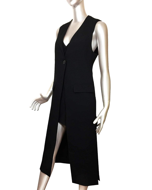 bas prix a99a6 bf849 Zara Femme Gilet sans Manches Long à Fentes 2305/878 (X ...