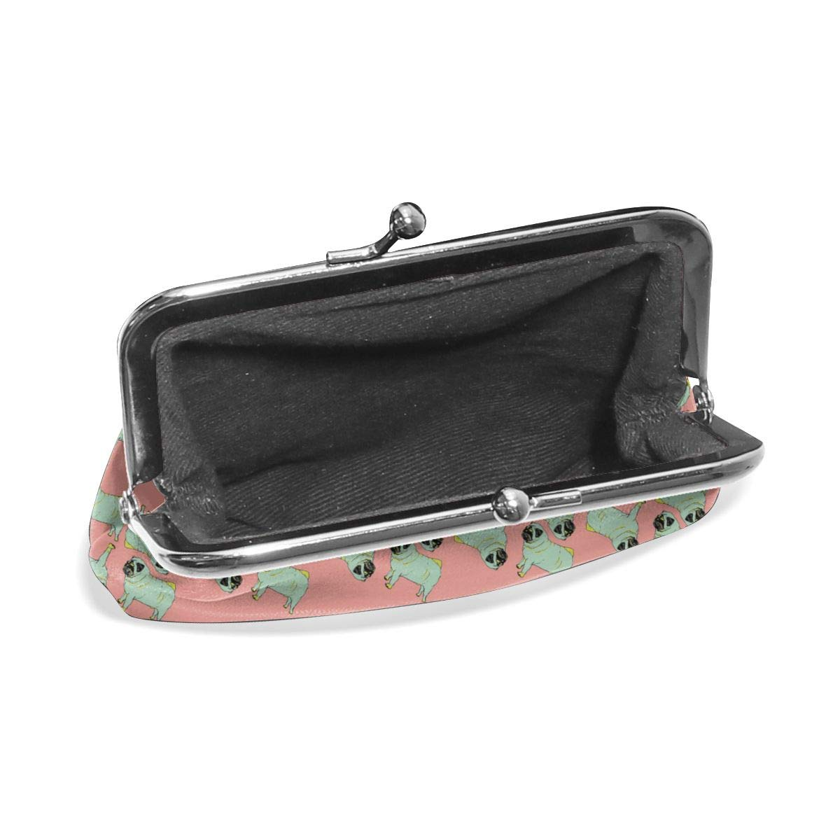 Retro Pugs Credit Cards Buckle Coin Purse For Womens