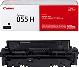 Canon Genuine Toner, Cartridge 055 Black, High Capacity (3020C001) 1 Pack, for Canon Color imageCLASS MF741Cdw, MF743Cdw, MF745Cdw, MF746Cdw, LBP664Cdw Laser Printers