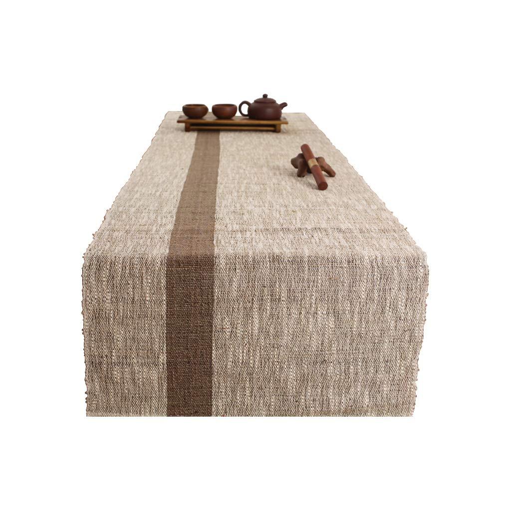 Yang baby Mesa de algodón clásica Comedor/Fiesta/decoración del Festival (Lino Gris, 180  45 cm)