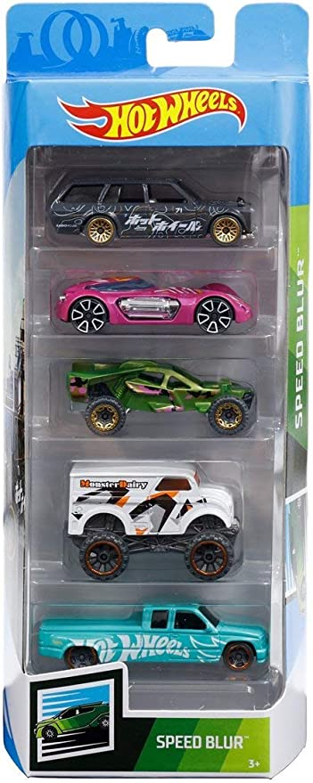 Amazon.com: Hot Wheels 2019 Speed Blur 5-Pack (1971 Datsun 510 Wagon, Dodge XP-07, Team Corkscrew, Monster Dairy Delivery, Custom C3500): Toys & Games