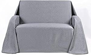 Stylemaster Home Products Rosanna Jacquard Furniture Throw, Large Sofa, Chrome