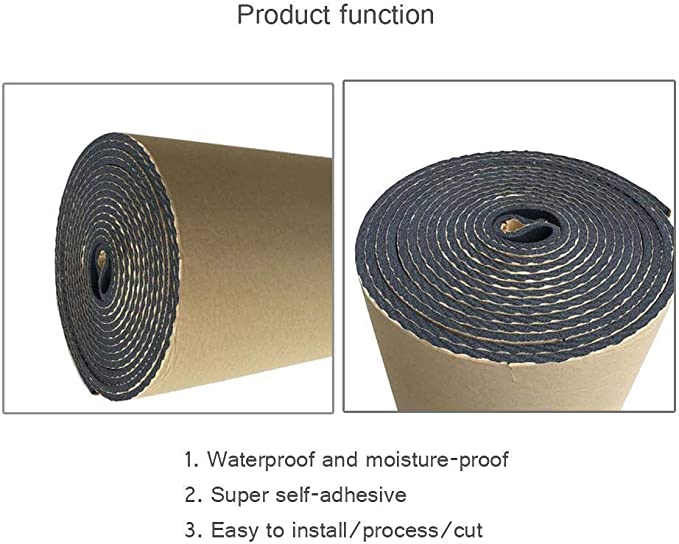 1.6 X 6.5 Roll FOONEE Sound Deadening Mat 10.8 Sqft 5mm//0.2inch Sound Deadener /& Heat Barrier Mat with Self-Adhesive 15.1 Sqft /& 3.3 X 4.6 Roll