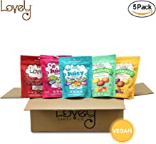 VEGAN Candy Assortment Gift Basket - Lovely Candy Co. 5 Bags of our VEGAN & GLUTEN-FREE Fan Favorite candies!