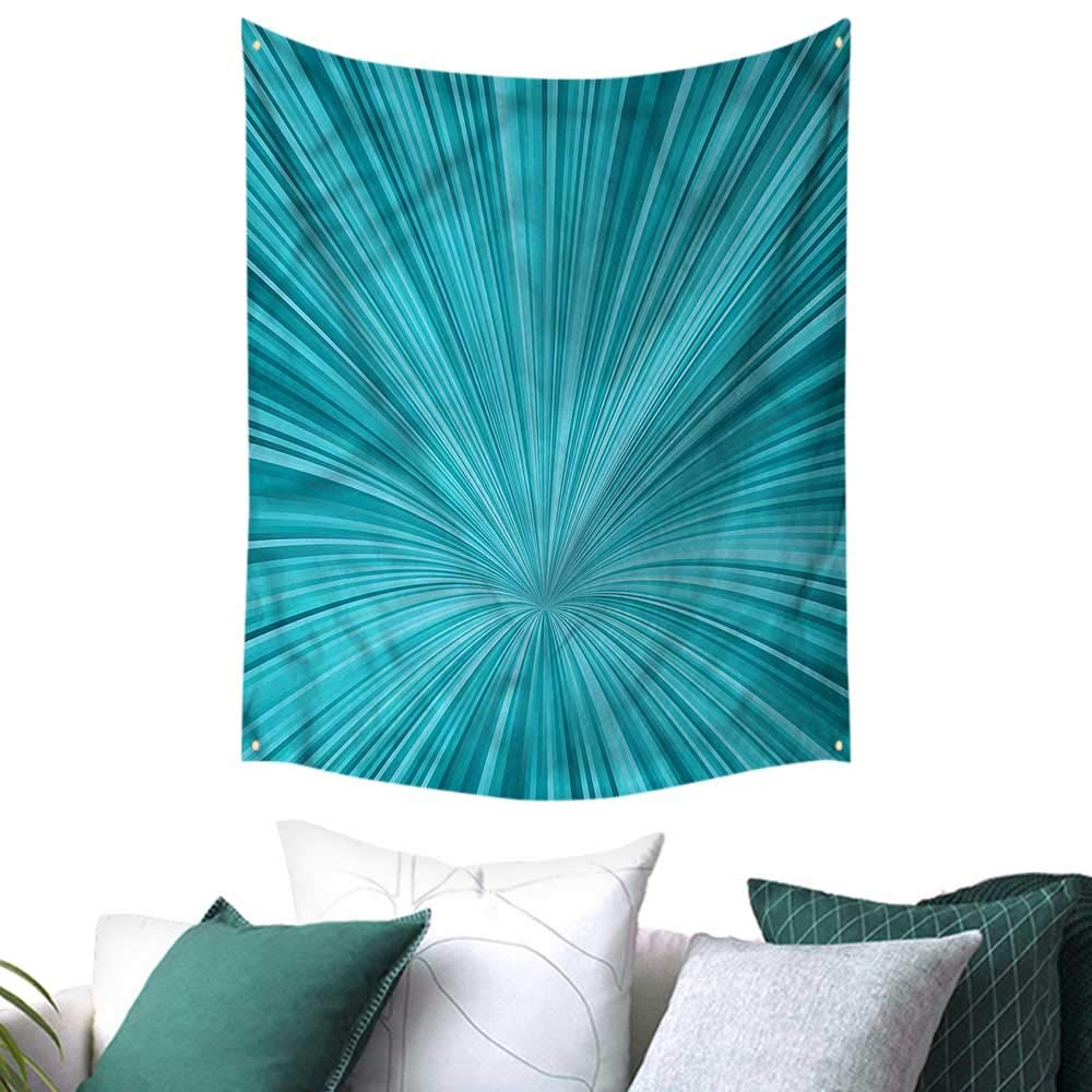 sunsunshine Teal Wall Hanging Tapestries Abstract Vortex Design 57W x 74L INCH,Home Decorations for Living Room Bedroom