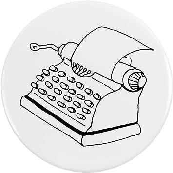 Azeeda 77mm Máquina de Escribir Insignia de Botón Pin (BB00038996)