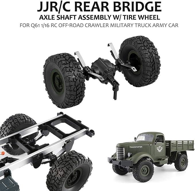 C hintere Brücke Achse Welle mit Reifen Rad für Q61 1//16 RC Offroad E5G5 JJR