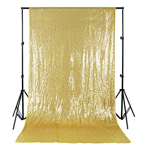B-Cool 4ftx8ft Sequin Backdrop Gold Photography Backdrop Wedding Shimmer Holiday Fabric Backdrops Curtain backdrops Photography Background DIY Sequin Backdrop