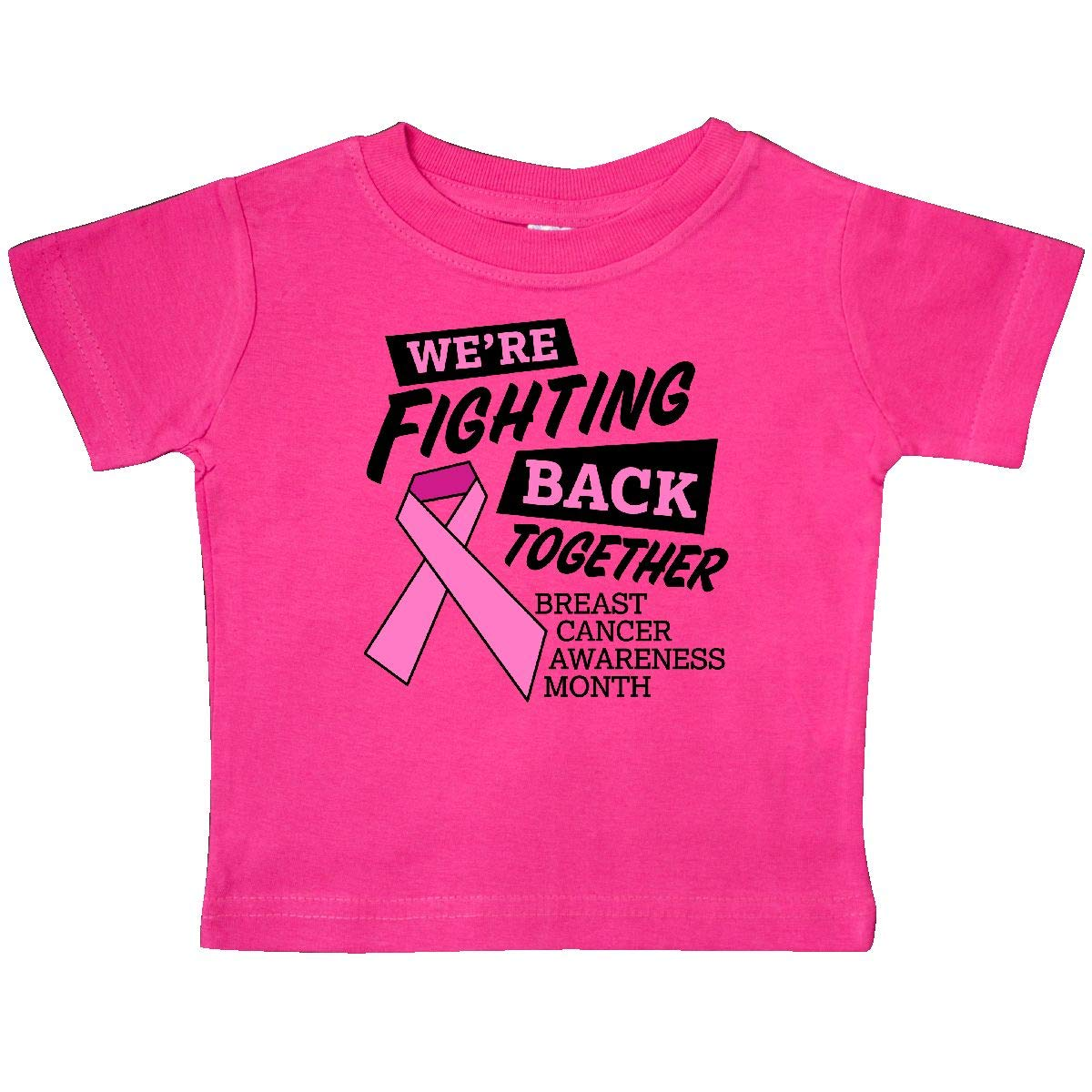 inktastic Were Fighting Back Together Breast Cancer Awareness Baby T-Shirt