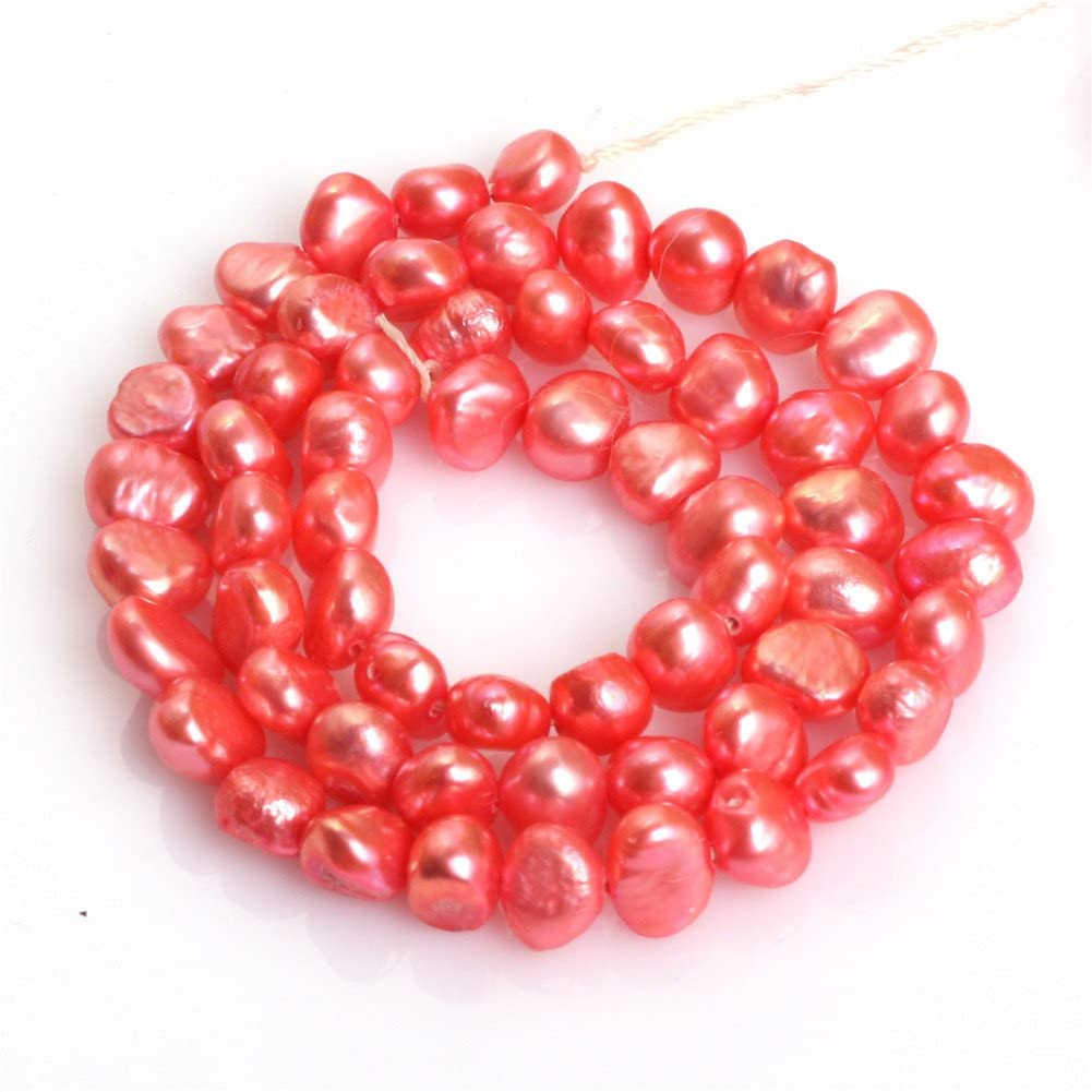"""6-7mm Multi Color Freshwater Pearl Freeform Stone Beads For Jewelry Making 15/""""NF"""
