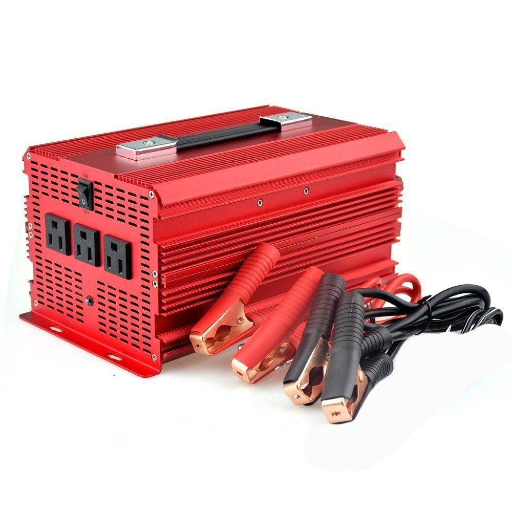BESTEK 2000W Power Inverter 3 AC Outlets DC 12V to 110V AC Car Inverter Outdoor Emergency Power Supply ETL Listed