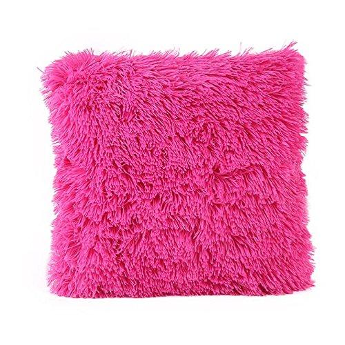 FarJing Pillow Cases,Pillow Case Sofa Waist Throw Cushion Cover Home Decor Pillow Cases(43cm43cm/1616inch,Hot Pink ()