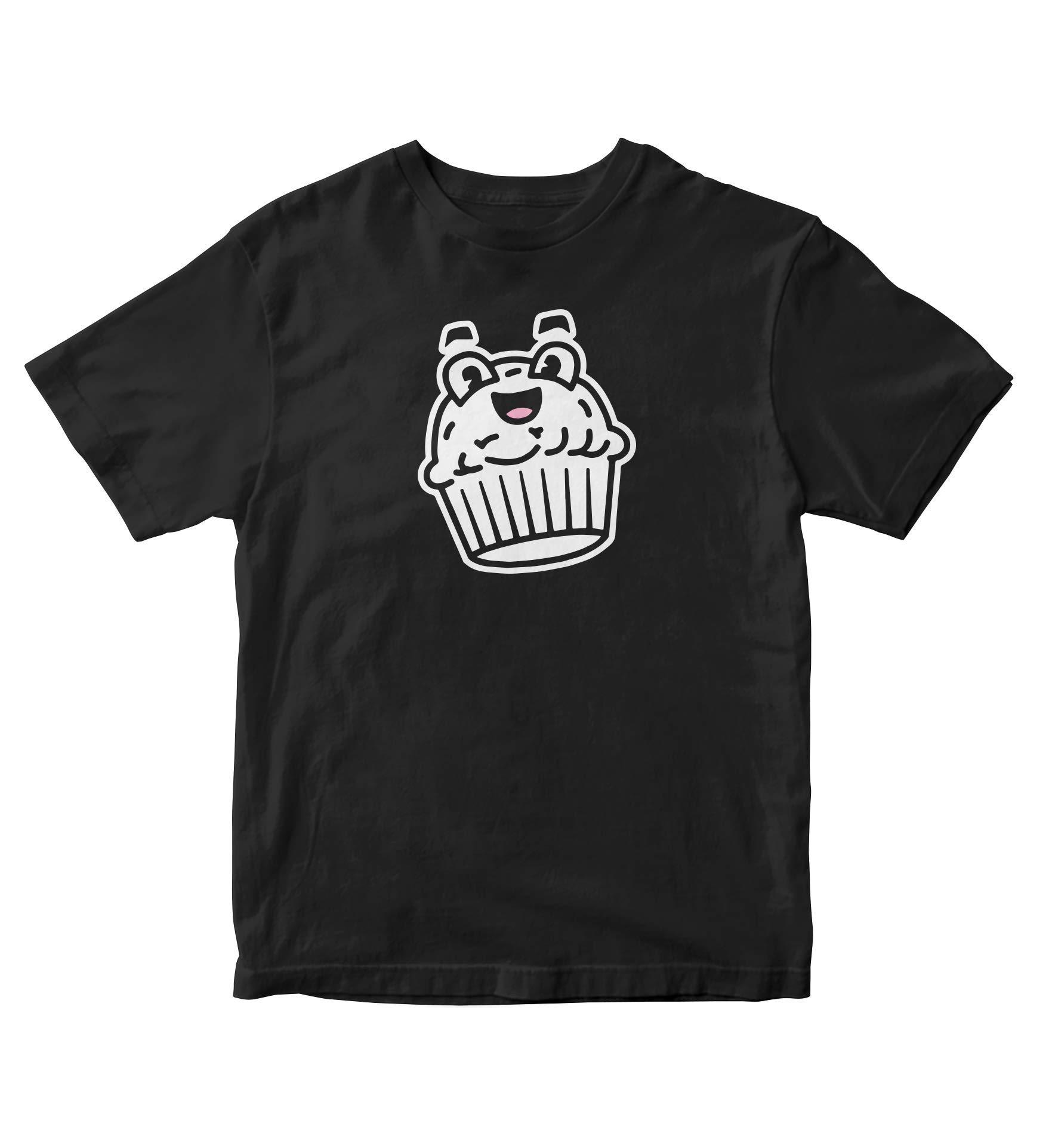 Tjsports Kawaii Cupcake Shirt Kuchen Geburtstag Anime Manga Black Shirt Adult S A720