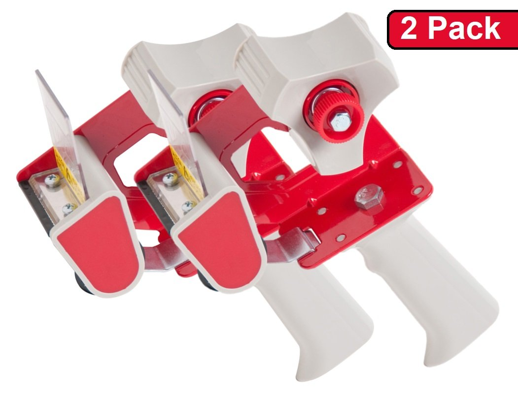 1InTheOffice Packaging Tape Dispenser Gun, (2 Pack)