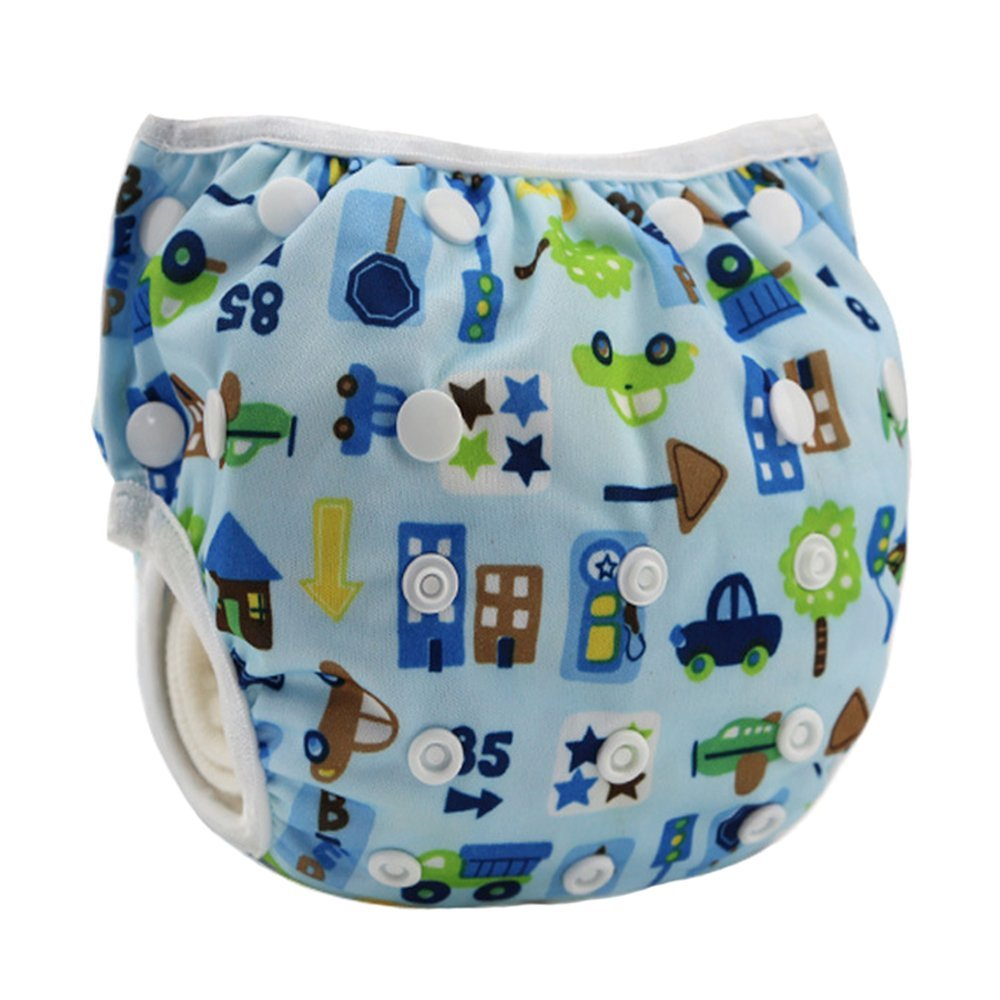 Turtle Leakproof Washable Reusable Swim Diapers for Kids 0 to 2 Years