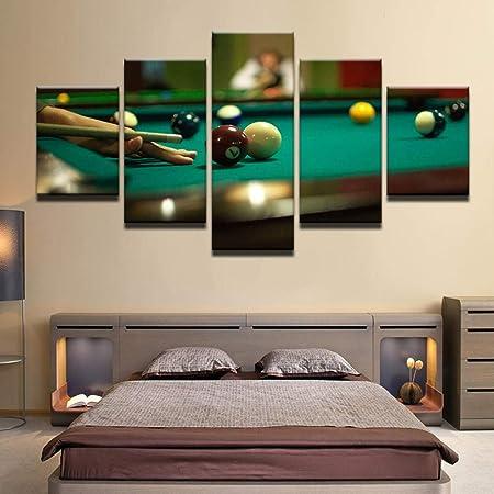 GrybeArt Cartel De Billar De 5 Piezas, Impresión HD, Tenis ...