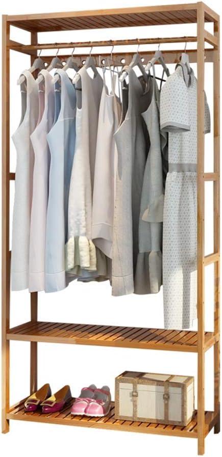 LVZAIXI シンプルコートラックシューズラックコンビネーションクリエイティブリビングルームハンガーベッドルームシンプルなワードローブナンブンフロア衣類棚 (サイズ さいず : 70cm)