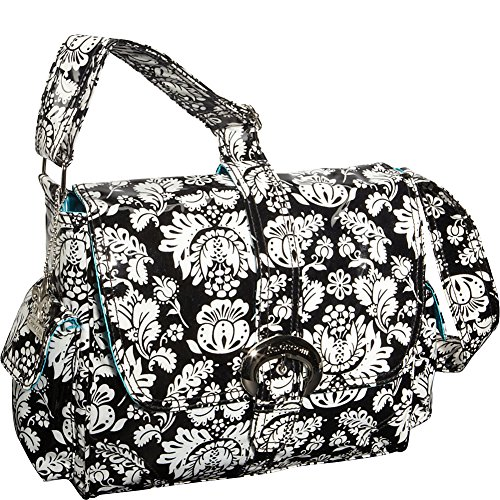 kalencom-midi-coated-diaper-buckle-bag-toile-black-white
