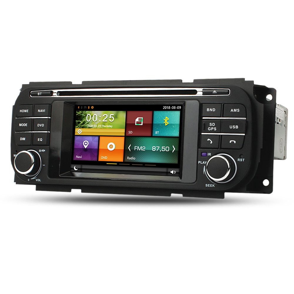 Maxtrons Car DVD Player GPS Navigation Stereo in Dash Radio for Jeep Grand Cherokee Liberty Wrangler Dodge Ram Dakota Durango Caravan Chrysler Voyager ...