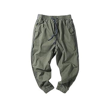 PLLP Los hombres de la primavera japonesa del bordado retro pies casuales pantalones sueltos juventud pantalones