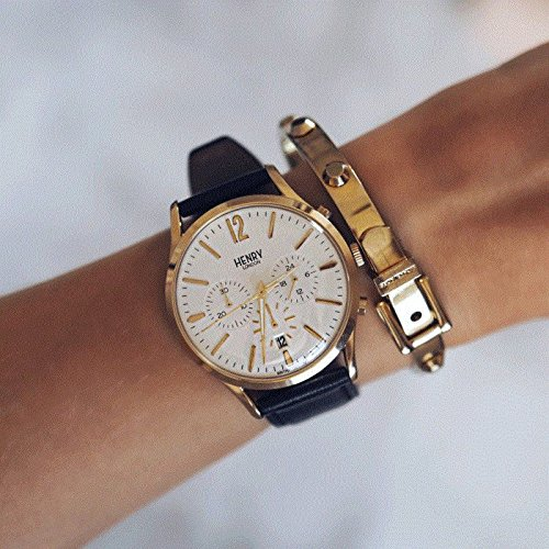 Henry London Reloj Analógico para Unisex de Cuarzo con Correa en Cuero 5018479078159: Henry London: Amazon.es: Relojes